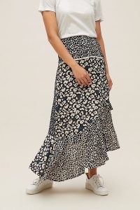 Conditions Apply Nikita Printed-Ruffled Asymmetric Skirt