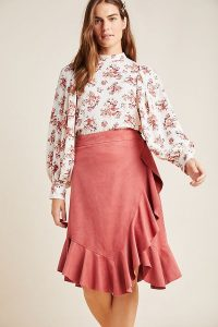Maeve Marston Ruffled-W rap Skirt