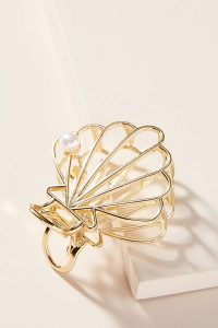 Petit Moments Sally Shell Hair Clip Gold | sea inspired accessories