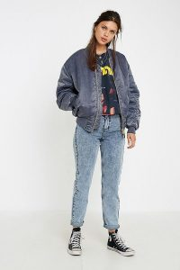 Urban Renewal Salvaged Deadstock Blue Stonewash MA1 Bomber Jacket