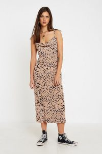 The East Order Scarlet Midi Dress in Brown