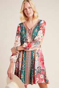 Farm Rio Topanga Mini Dress Pink Combo