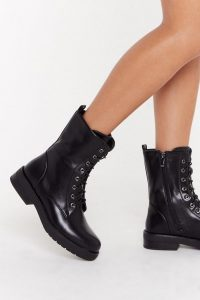 NASTY GAL Basic Lace Up Hiker Boot