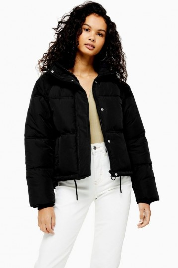 Topshop Black Puffer Jacket | essential Autumn style 2019