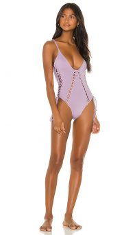 Blue Life Vixen One Piece in Lilac | plunging swimwear