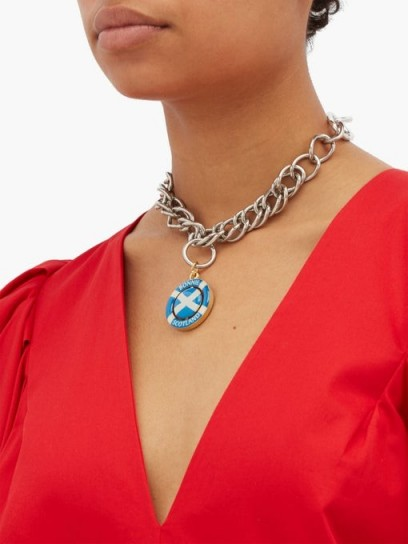 CHOPOVA LOWENA Bonnie Scotland curb-chain necklace ~ chunky chains ~ pendant necklaces