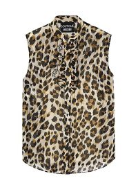 BOUTIQUE MOSCHINO Leopard-print chiffon blouse / a touch of glamour