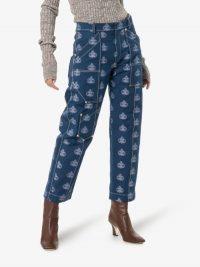 Chloé Logo Print Cropped Jeans / designer denim