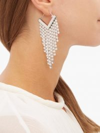 ISABEL MARANT Crystal-embellished fringed earrings