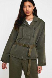 Gestuz Olive Utility Jacket ~ khaki-green jackets
