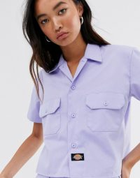 Dickies relaxed boxy shirt in lilac