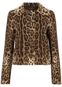 DOLCE & GABBANA Leopard-print cropped wool jacket ~ a touch of glamour ~ beautiful Italian clothing