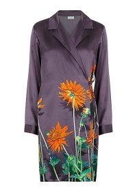 DRIES VAN NOTEN Calberta printed silk wrap dress