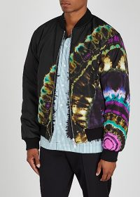 DRIES VAN NOTEN Vulker reversible tie-dye shell bomber jacket / men's designer fashion