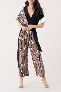 DVF Foye Silk Crepe De Chine Belted Jumpsuit