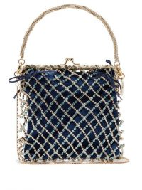 ROSANTICA BY MICHELA PANERO Flaubert crystal-embellished clutch