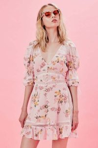 FOR LOVE & LEMONS ISADORA MINI DRESS
