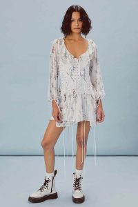 FOR LOVE & LEMONS LILLIE CHIFFON CORSET DRESS