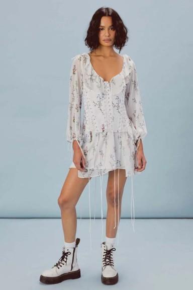 FOR LOVE & LEMONS LILLIE CHIFFON CORSET DRESS