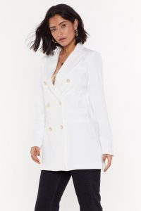 NASTY GAL Forever a City Pearl Tailored Blazer