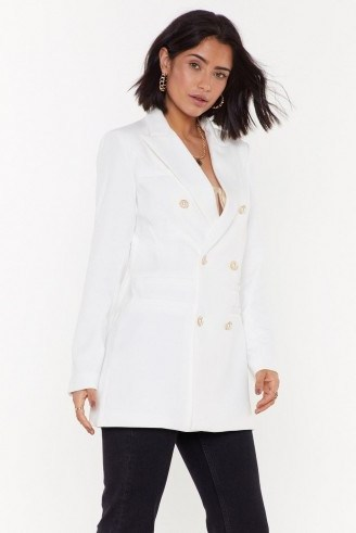 NASTY GAL Forever a City Pearl Tailored Blazer - flipped