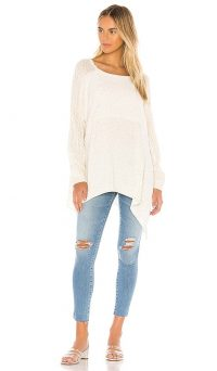 Free People My Girl Pullover | rib knit paneled top