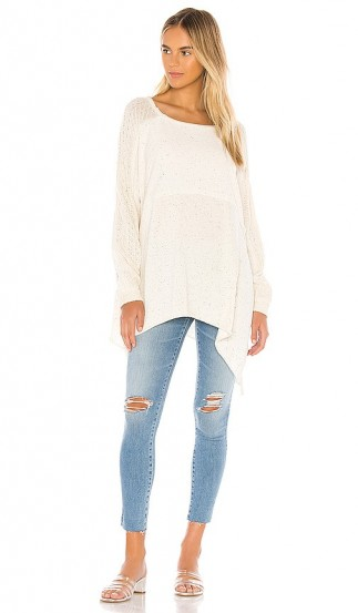 Free People My Girl Pullover   rib knit paneled top