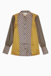 Topshop Geometric Border Shirt | multi print shirts