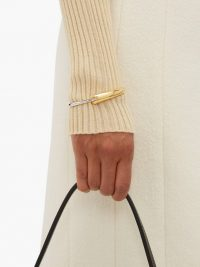 CHARLOTTE CHESNAIS Gia gold-vermeil and sterling-silver bracelet ~ chic contemporary bangle