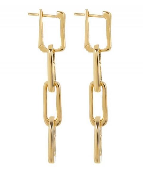 MONICA VINADER Gold Vermeil Alta Capture Charm Cocktail Earrings