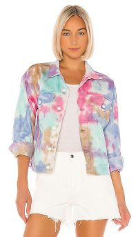 GRLFRND Kim Jacket American Beauty ~ multicoloured denim