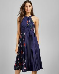 TED BAKER PRITEE Hedgerow pleat detail dress