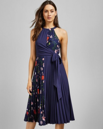 TED BAKER PRITEE Hedgerow pleat detail dress