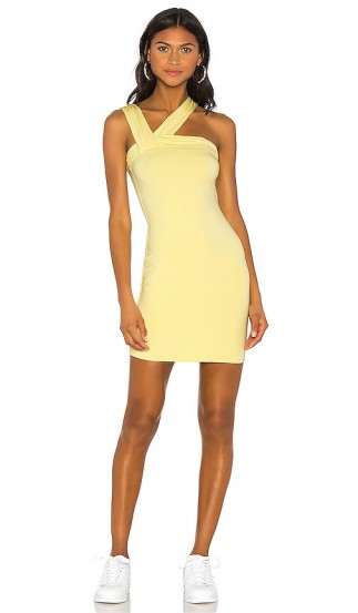 h:ours Clyde Mini Dress in Butter Yellow