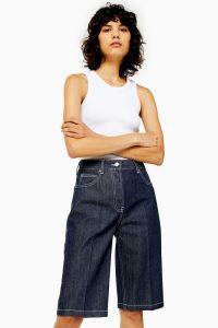 Topshop Boutique Indigo Cut Off Jeans