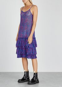 IN.NO Dixie leopard-print tulle dress / tiered slip dresses