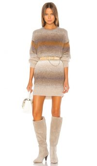 IRO Carlyle Dress in Beige | crew neck sweater dresses