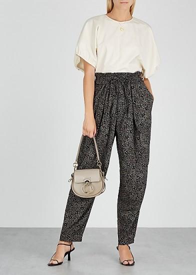 ISABEL MARANT ÉTOILE Lively floral-print cotton trousers