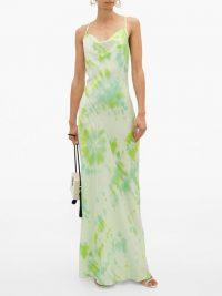 RAT & BOA Juniper tie-dye satin maxi dress