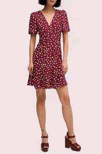 Kate Spade Mallow Dot Crepe Dress