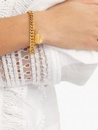 ORIT ELHANATI Klarita gold-plated charm bracelet – hammered charms