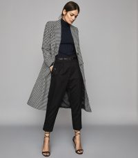 REISS LARA PUPPYTOOTH CROMBIE COAT ~ classic and stylish