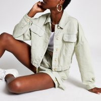 River Island Light green denim jacket