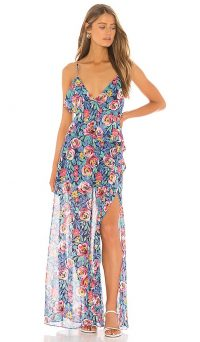 Lovers + Friends Darcy Maxi Dress in Rose Garden Floral – floaty floral dresses