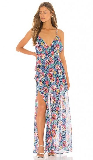 Lovers + Friends Darcy Maxi Dress in Rose Garden Floral – floaty floral dresses - flipped