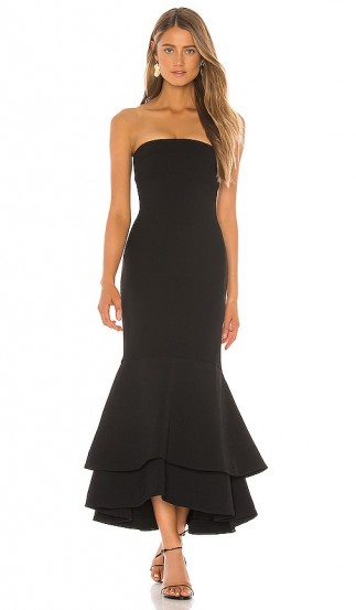 Lovers + Friends Dillion Midi in Black – occasion glamour
