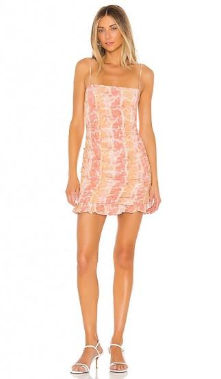 Lovers + Friends Emmett Mini Dress Snake Skin