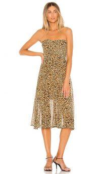 Lovers + Friends Marcus Midi Dress Cheetah Print