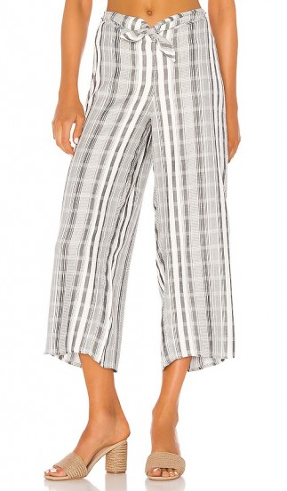 L*SPACE Lana Pant PCH Stripe / checked crop leg pants