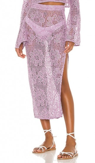 MAJORELLE Graham Midi Skirt Purple